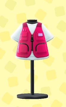 あつ森のつりジャケットのピンク