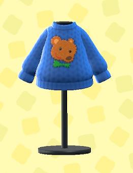 あつ森のははのてあみセーターのテディベア