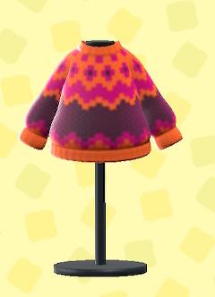 あつ森のノルディックなセーターのオレンジ