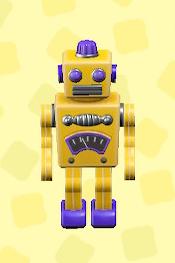 あつ森のブリキのロボットのイエロー