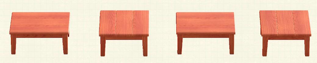あつ森の木製テーブルのリメイクチェリーウッドパターン