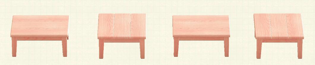 あつ森の木製テーブルのリメイクピンクウッドパターン