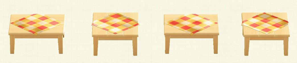 あつ森の木製テーブルのリメイクオレンジパターン
