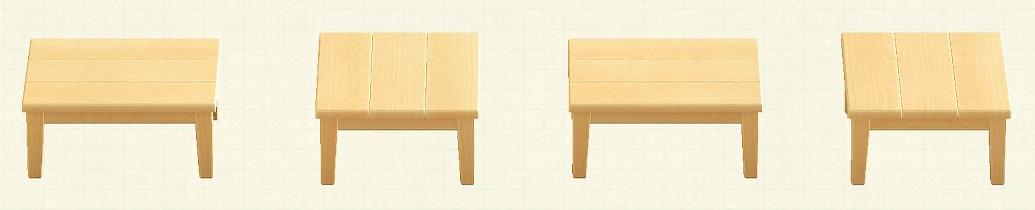 あつ森の木製テーブルのリメイクマイデザインパターン