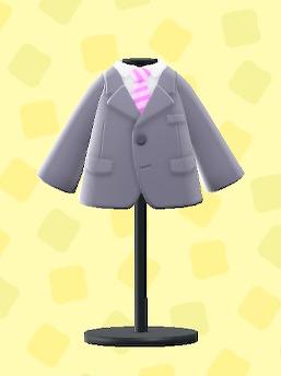 あつ森のスーツのグレー