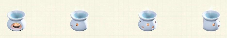 あつ森のアロマポットのリメイクホワイトパターン