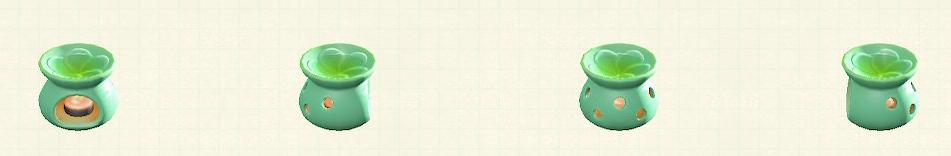 あつ森のアロマポットのリメイクグリーンパターン
