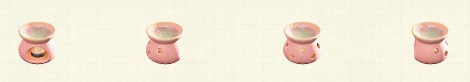あつ森のアロマポットのリメイクピンクパターン