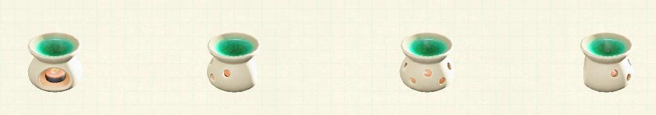 あつ森のアロマポットのリメイククリームパターン