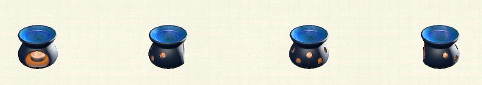 あつ森のアロマポットのリメイクブラックパターン