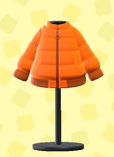 あつ森のダウンジャケットのオレンジ