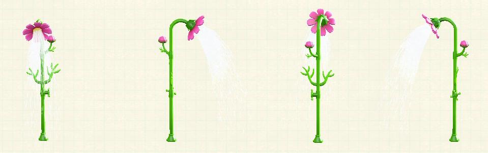あつ森のコスモスのシャワーのピンク