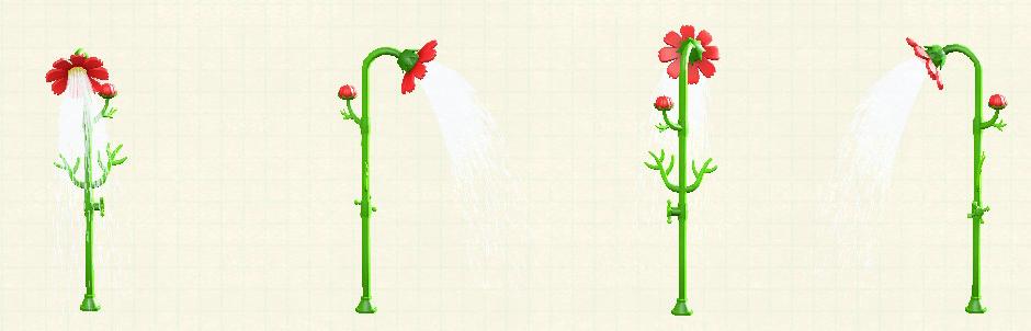 あつ森のコスモスのシャワーのレッド