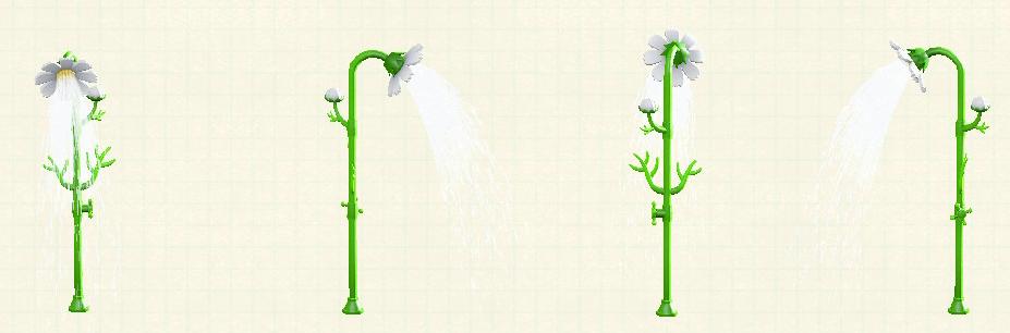 あつ森のコスモスのシャワーのホワイト