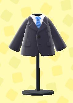 あつ森のスーツのブラック