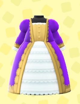 あつ森のきぞくのドレスのパープル
