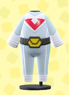 あつ森のヒーロースーツのホワイト