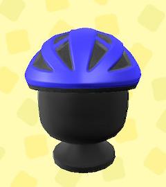 あつ森のサイクルヘルメットのネイビー