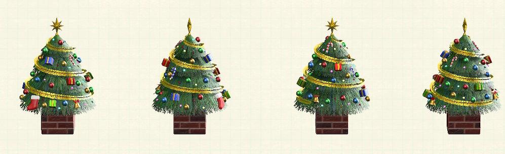 あつ森のおおきなクリスマスツリーのカラフル
