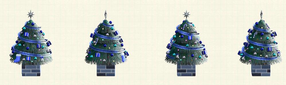 あつ森のおおきなクリスマスツリーのブルー