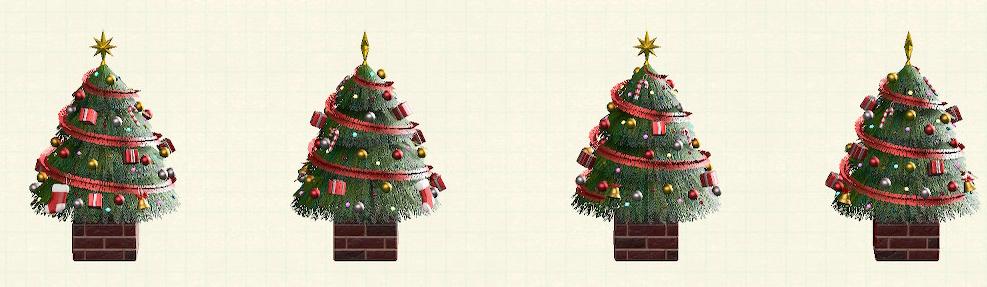 あつ森のおおきなクリスマスツリーのレッド