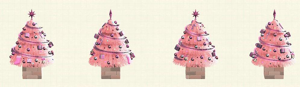 あつ森のおおきなクリスマスツリーのピンク