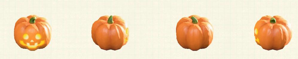 あつ森のハロウィンなランタンのオレンジ