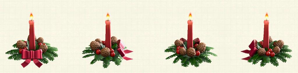 あつ森のクリスマスキャンドルのレッド