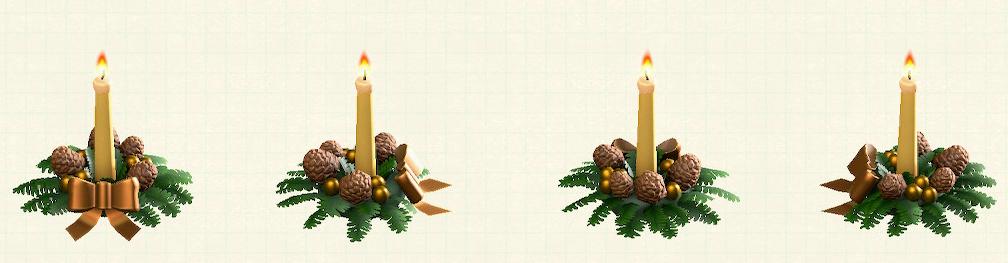 あつ森のクリスマスキャンドルのゴールド