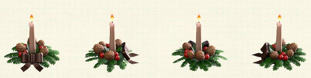 あつ森のクリスマスキャンドルのブラウン