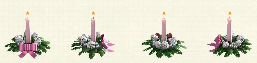 あつ森のクリスマスキャンドルのピンク