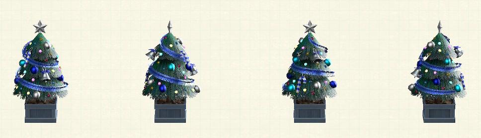 あつ森のかわいいクリスマスツリーのブルー