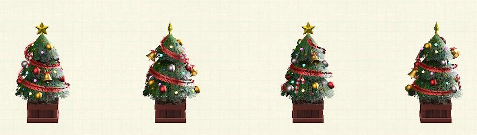 あつ森のかわいいクリスマスツリーのレッド