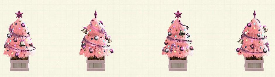 あつ森のかわいいクリスマスツリーのピンク