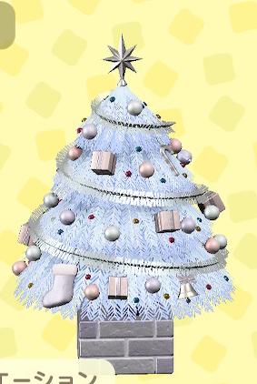 あつ森のおおきなクリスマスツリーのホワイト