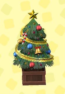 あつ森のかわいいクリスマスツリーのカラフル