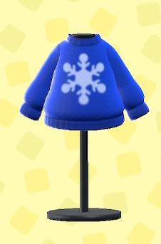 あつ森のけっしょうのセーターのブルー