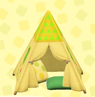 あつ森のキッズテントのフラワー