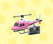 あつ森のラジコンヘリコプターのピンク