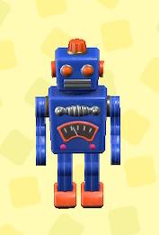 あつ森のブリキのロボットのブルー
