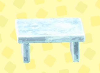 あつ森のこおりのテーブルのアイス
