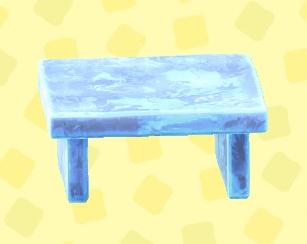 あつ森のこおりのテーブルのアイスブルー