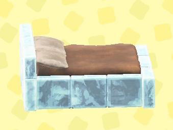 あつ森のこおりのベッドのアイス