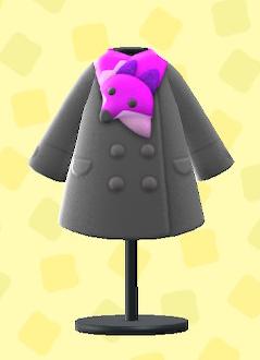 あつ森のぬいぐるみマフラーつきコートのピンク
