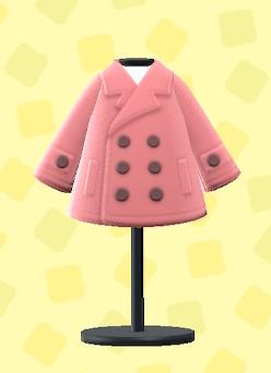 あつ森のピーコートのピンク