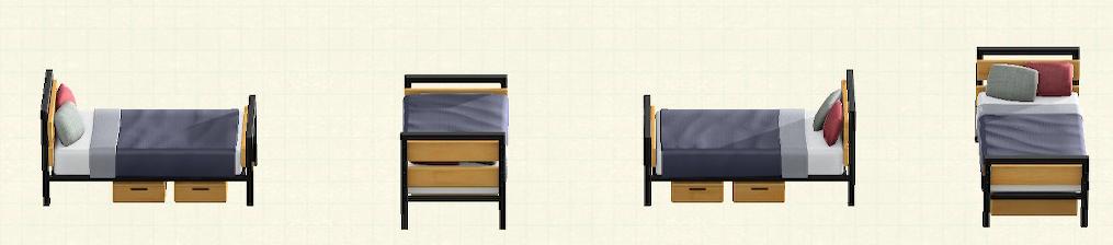 あつ森のアイアンウッドベッドのリメイクバーチパターン