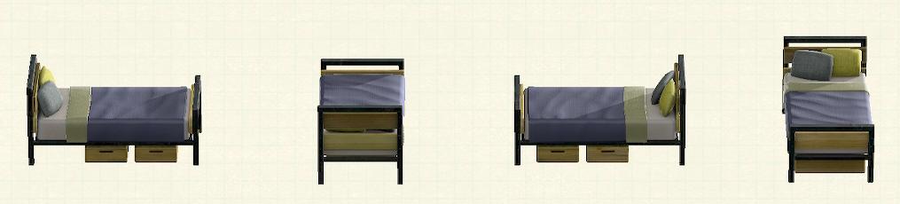 あつ森のアイアンウッドベッドのリメイクオールドパターン
