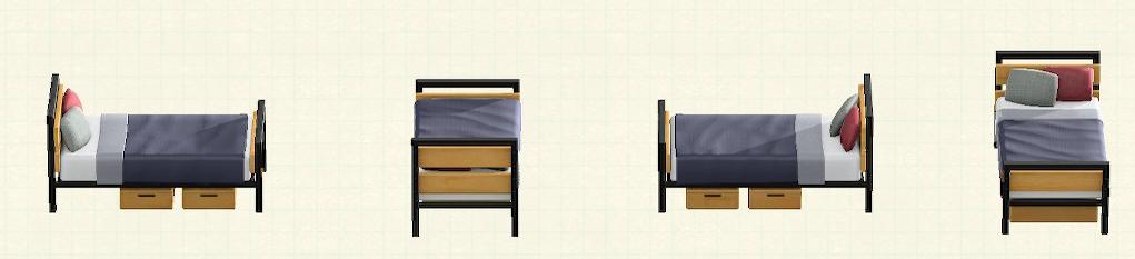 あつ森のアイアンウッドベッドのリメイクマイデザインパターン