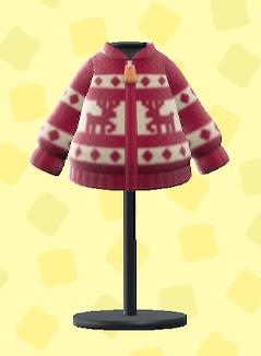 あつ森のトナカイセーターのレッド