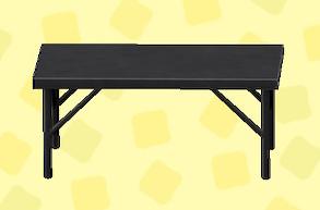 あつ森のアイアンワークテーブルのブラック